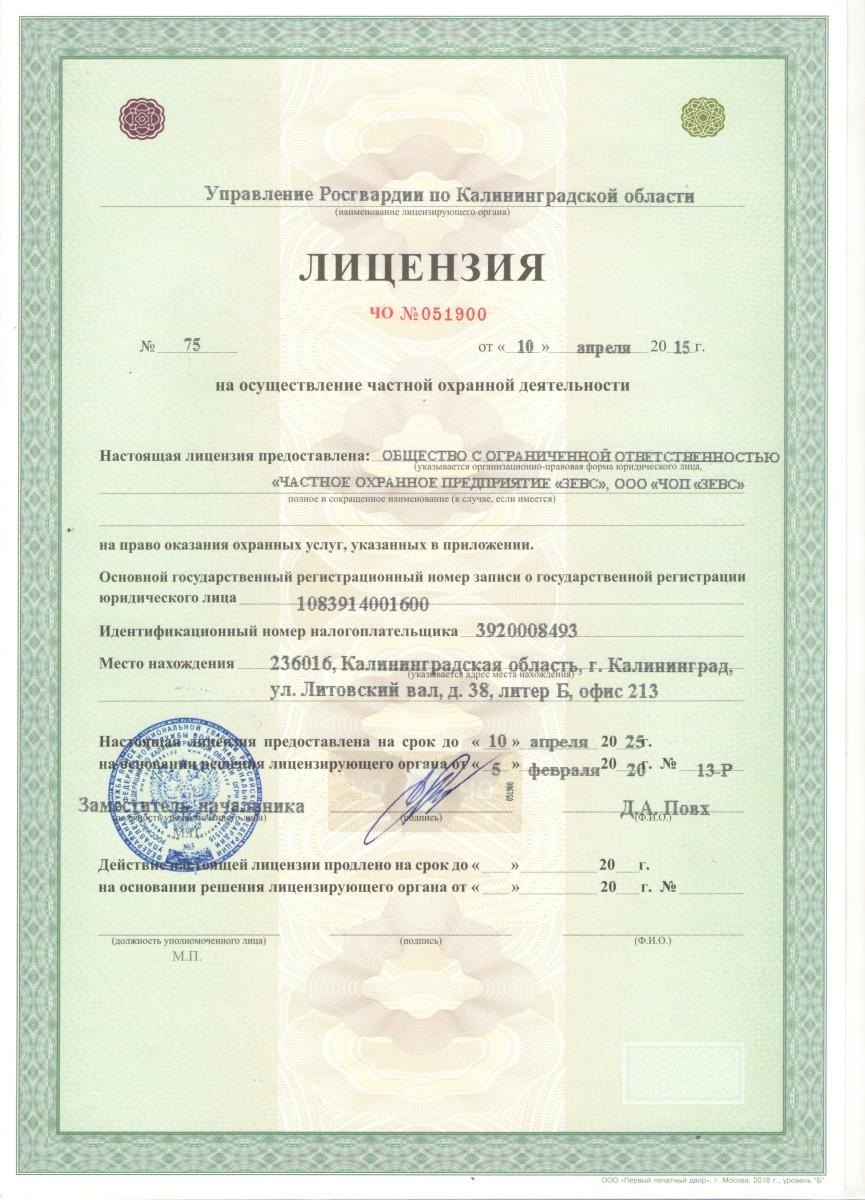 лицензия 2025